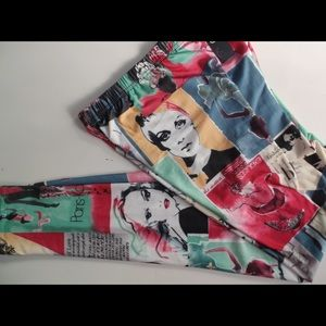"""Pop Art """"ShoSho"""" leggings New With Tags"""